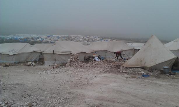 refugee camp for Syrians in Turkey, 2013. Photo by Rana Sammani