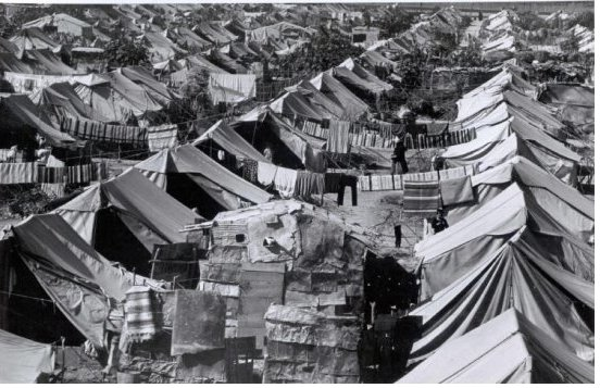 refugee camp of the Palestinian Nakba, 1948