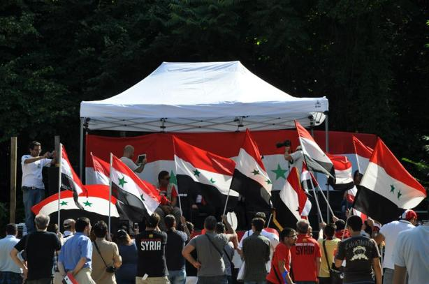 Pro Assad rally in Rome