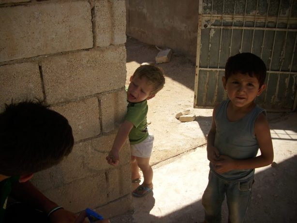 A tiny Syrian boy who has known mostly war and suffering in his short life, wants to pay humanitarian volunteers who have brought food to his family.