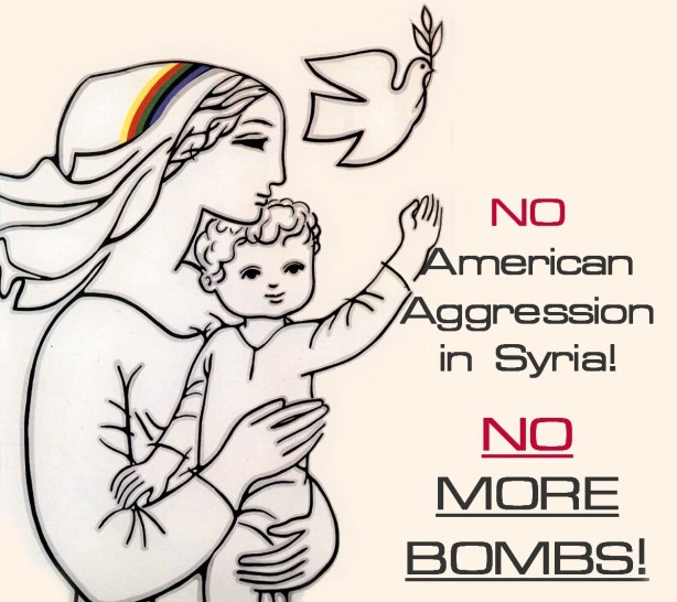 "No ""more"" bombs...the ones from Russia and Iran dropped by Assad's army can keep coming though... there are terrorists, you know."