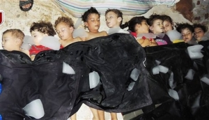 Some of the hundreds of civilian victims of the Sarin Nerve Gas massacre in Ghouta. Gassed in their beds by the Syrian regime.