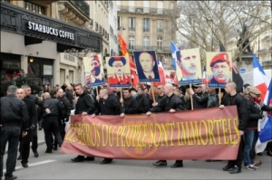 """The Third Way march, with their Icons in """"yes we can"""" Shepard Fairey style!"""