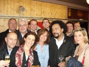 National Front event, all together now! Zenith, December 2006: A. Soral, JM Dubois, B. Gollnish, D. Joly, Jany Le Pen, F. Chatillon, G. Mahé, Dieudonné and others...
