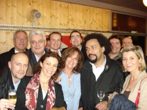 National Front event, all together now! Zenith, December 2006: A. Soral, JM Dubois, B. Gollnish, D. Joly, Jany Le Pen, F. Chatillon, G. Mahé, Dieudonné and others...