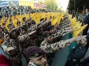 Hezbollah, what a group salute that is!
