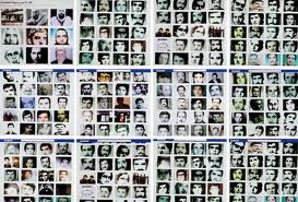 Photographs of a few of the tens of thousands of Syrians massacred in Hama in 1982.