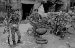 Palestinian soldiers in Lebanon, 1976