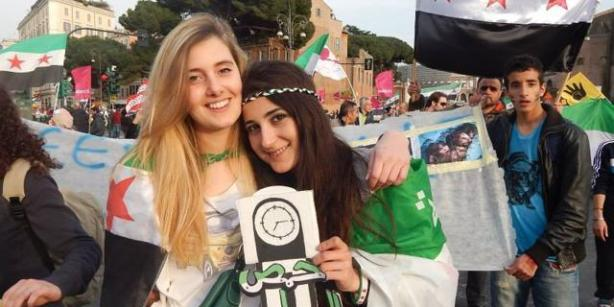 Greta Ramelli and Vanessa Marzullo, two human rights activists and aid volunteers for Syria.