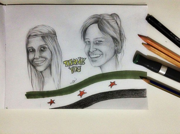 Thank you, from Nour, an artist in Syria.