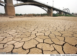 Karoon Rivers which dried up due to transferring of its water to central regions of Iran