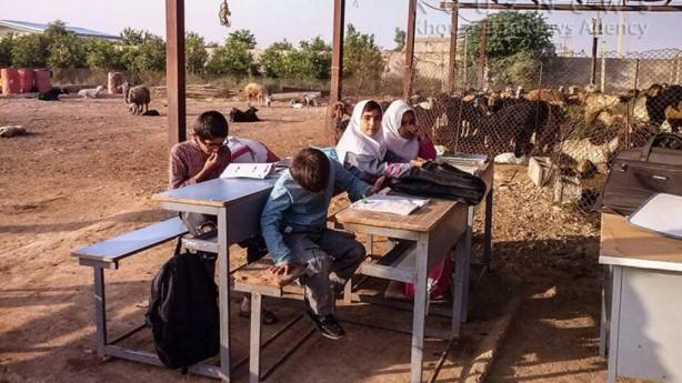 These are the 'school' conditions for many Ahwazi Arab children in rural areas, who are denied the most basic education facilities unlike Persian children