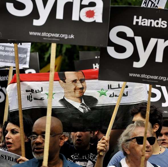 In the UK, it's clear that the support is for the regime.